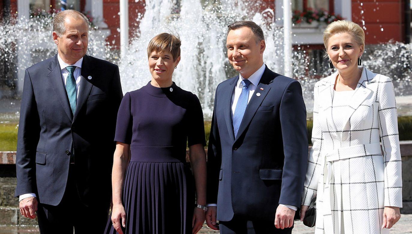 Wizyta Andrzeja Dudy w Estonii rozpoczęła się od spotkania z prezydent Kersti Kaljulaid (fot. PAP/Adam Guz