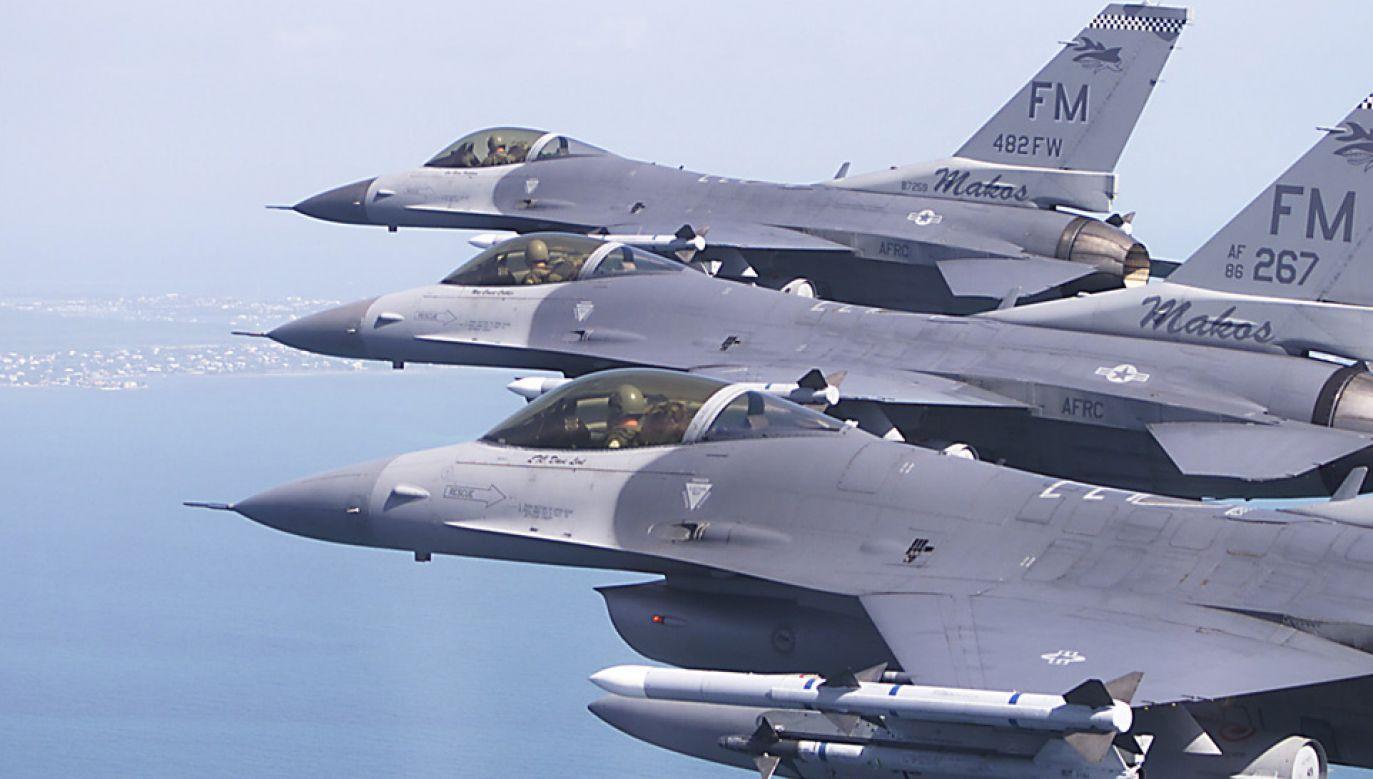 Ćwiczenia odbyły się w ramach cyklu Dissimilar Air Combat Training (fot. USAF)