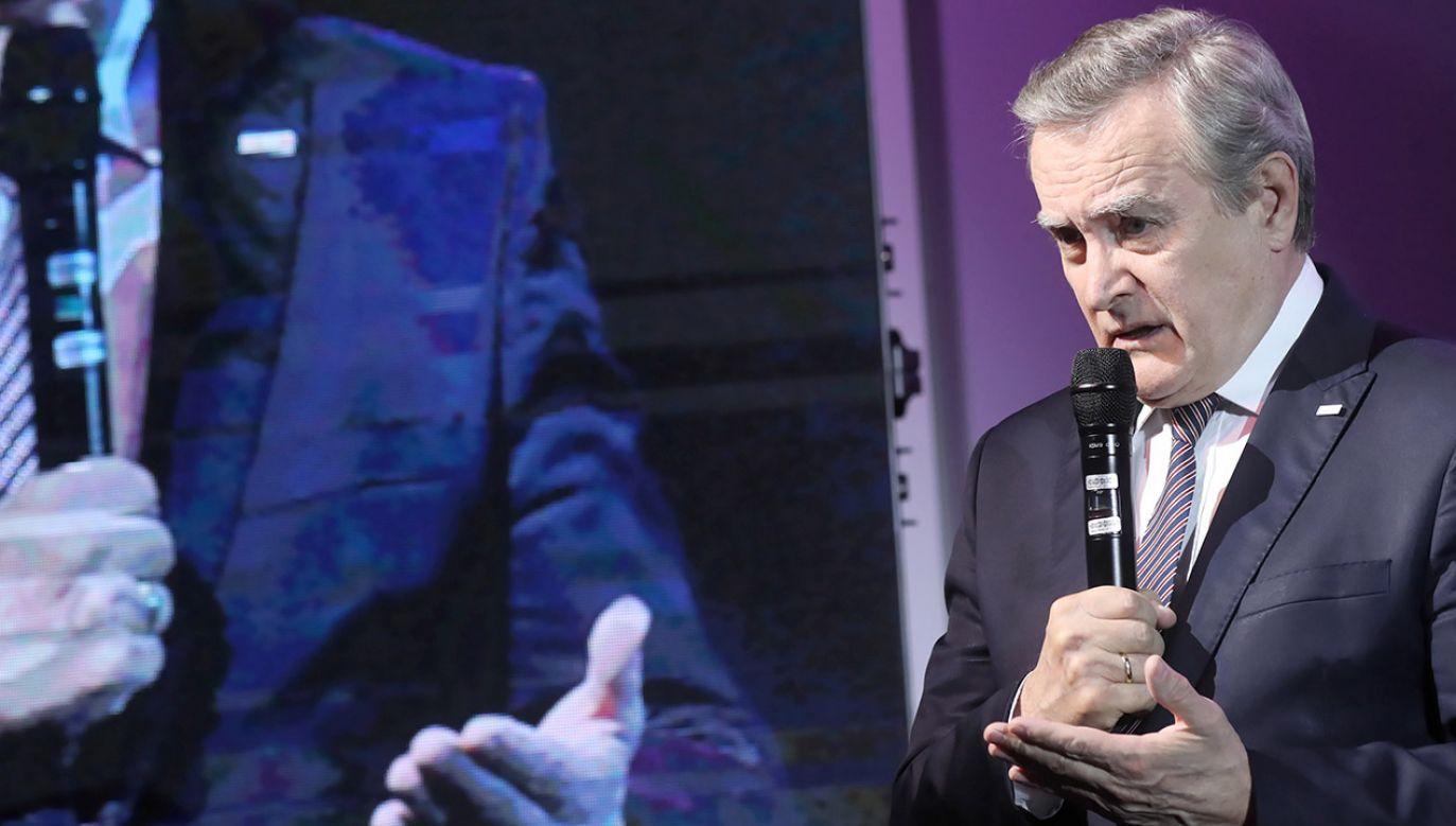 Wicepremier, minister kultury Piotr Gliński podczas otwarcia II Kongresu AGD (fot. PAP/Roman Zawistowski)