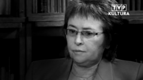 Prof. Maria Dzielska. Fot. TVP