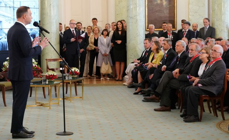 Prezydent Andrzej Duda (L) (fot. PAP/Konrad Kalbarczyk)