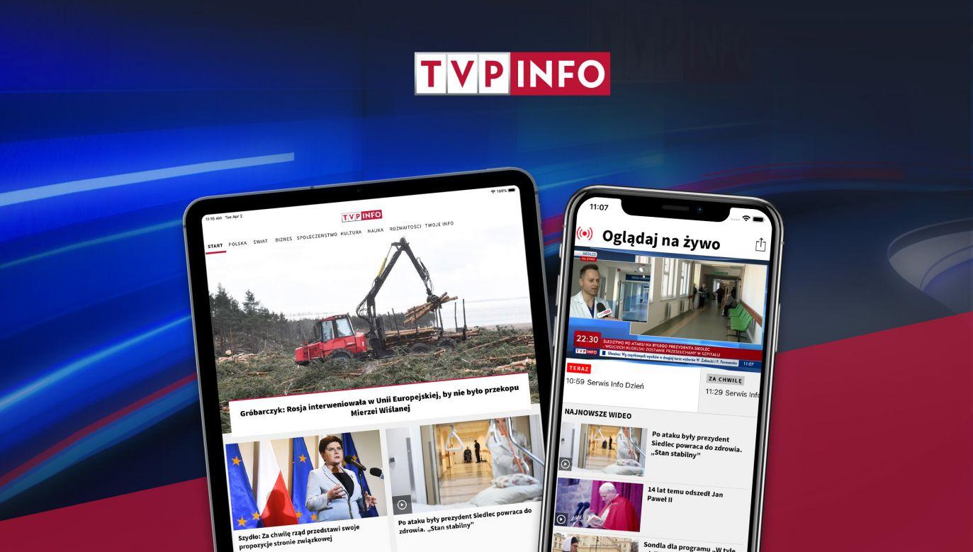 Nowa aplikacja to wygodny dostęp do informacji i transmisji (fot. TVP)