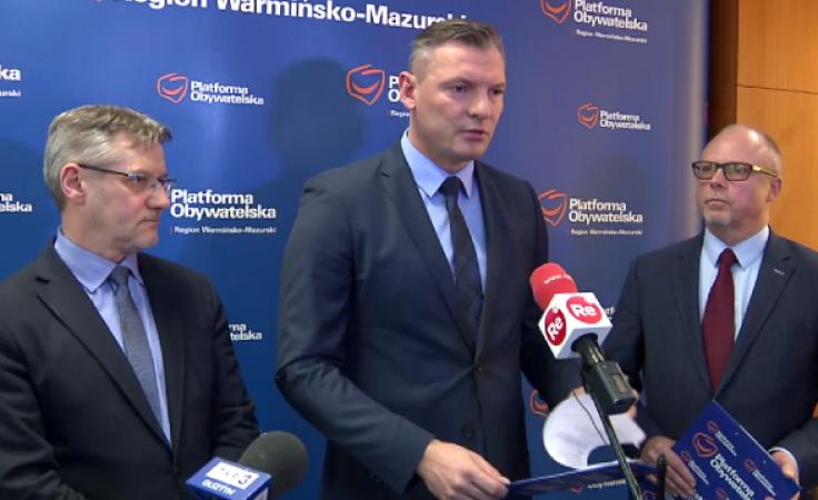 Z dziennikarzami spotkali się Janusz Cichoń, Paweł Papke oraz Jacek Protas