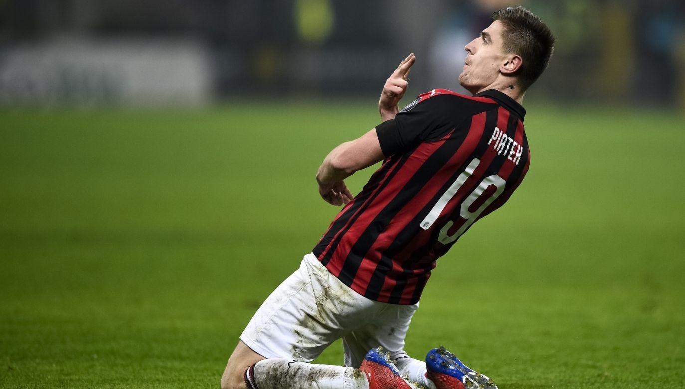 Krzysztof Piątek bije kolejne rekordy w Milanie (fot. Getty)