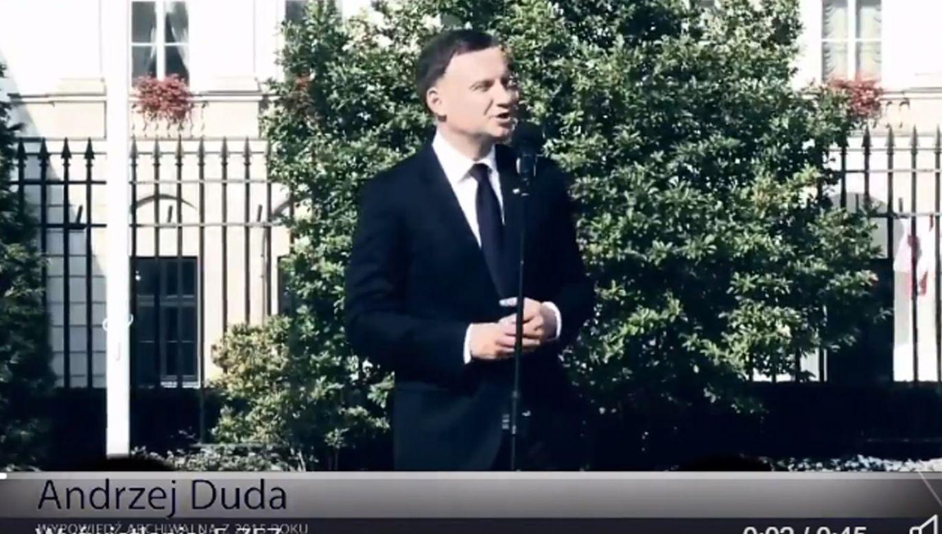 W spocie PO zmanipulowano wypowiedź prezydenta Polski (fot. tt/@bbudka)
