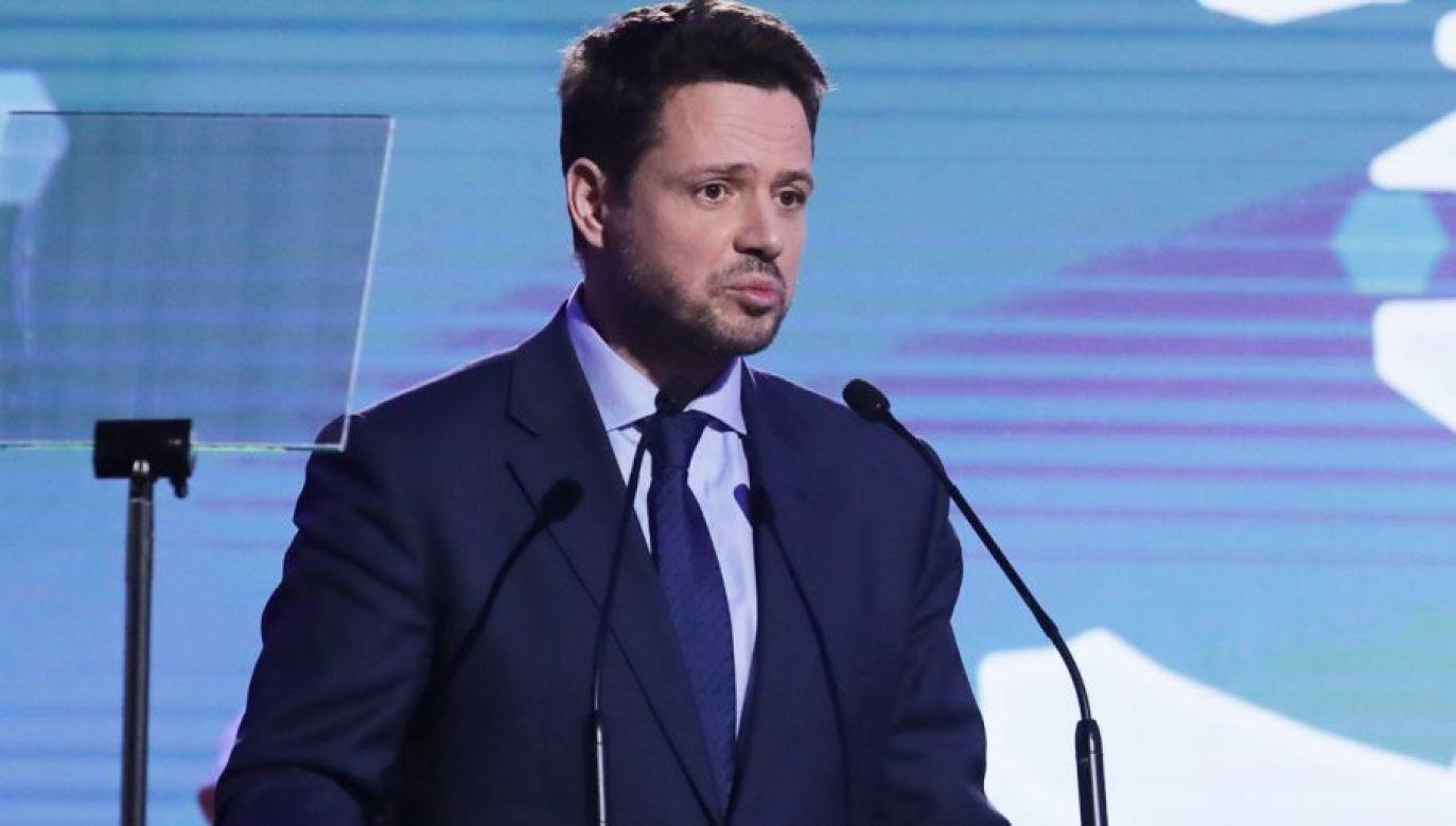 Kandydat na prezydenta Warszawy, poseł PO Rafał Trzaskowski (fot. PAP/Tomasz Gzell)