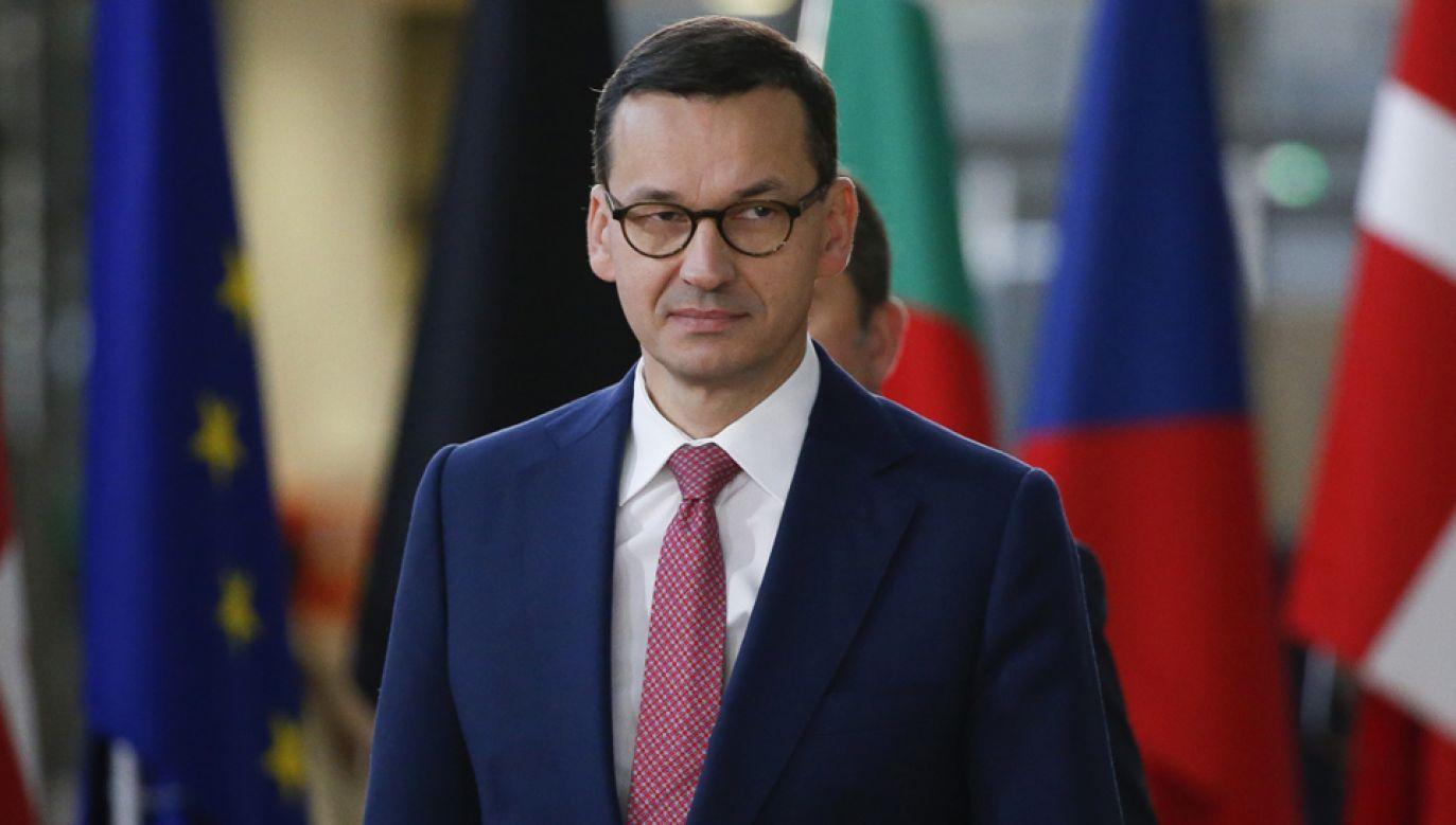 Polskę na szczycie ASEM w Brukseli reprezentuje premier Mateusz Morawiecki (fot. PAP./EPA/JULIEN WARNAND)