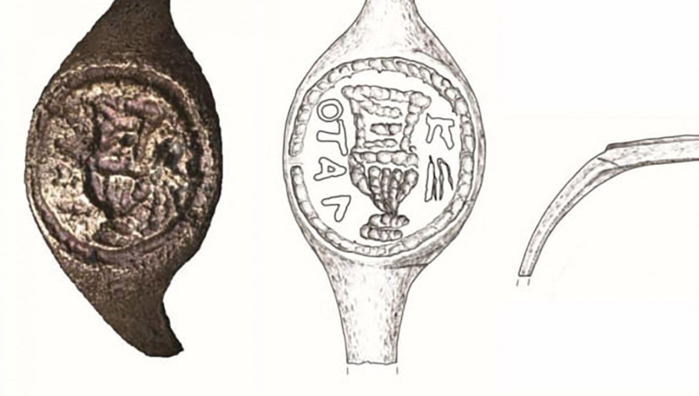 Za autentycznością znaleziska przemawia m.in. fakt, że ten typ pierścienia był właściwy dla klasy ekwitów, do której należał Poncjusz Piłat (fot. Hebrew University)