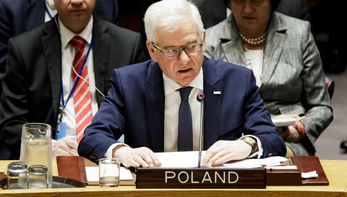 Szef polskiego MSZ Jacek Czaputowicz (fot. PAP/EPA/JUSTIN LANE)