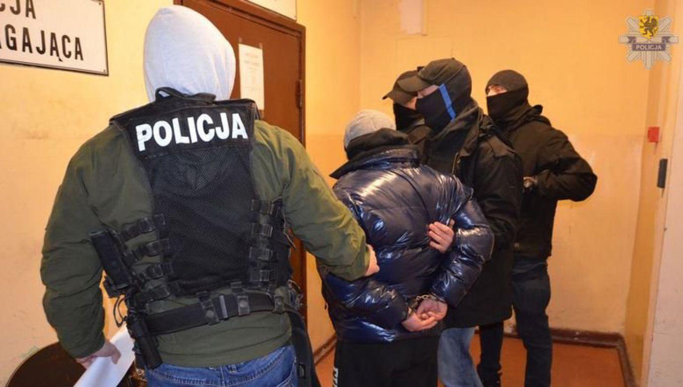 Jeden z zatrzymanych hejterów (fot. policja)