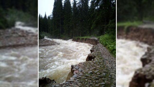 Intensywne opady deszczu w Tatrach i wezbrana woda w potokach utrudniły dostęp do tatrzańskich schronisk (fot. tt/Schronisko PTTK Murowaniec)