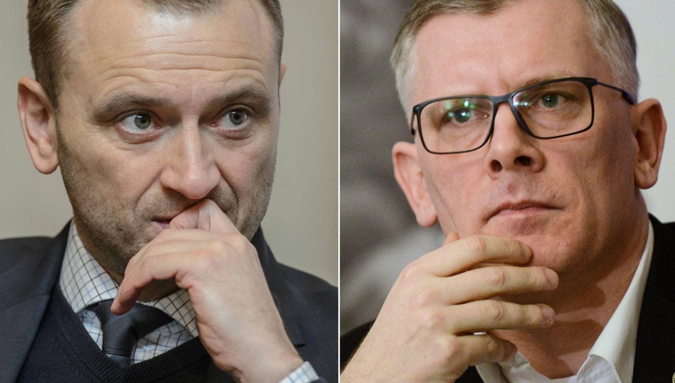 Sławomir Nitras i prof. Sławomir Cenckiewicz (fot. arch. PAP/Wojciech Pacewicz/Jakub Kamiński)