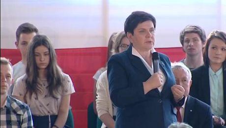 Wicepremier Beata Szydło w Krościenku i Limanowej