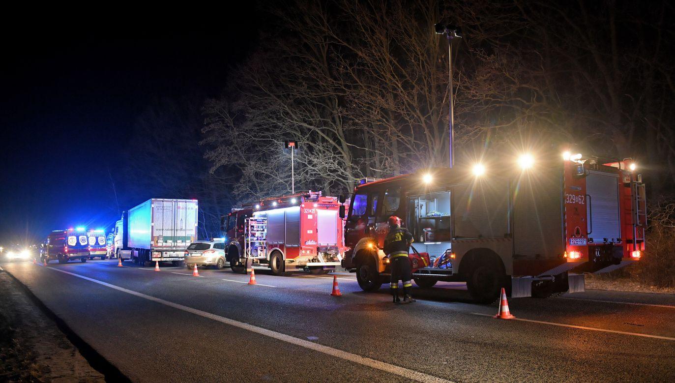 Śmiertelny wypadek pod Gdańskiem (fot. PAP/DAREK DELMANOWICZ)