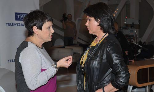 Z Elżbietą Jaworowicz podczas Wielkiego testu o telewizji w TVP, październik 2012. Fot. TVP/Ireneusz Sobieszczuk