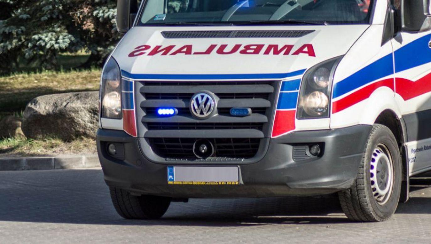 1 osoba nie żyje, 4 zostały ranne (fot. tvp.info/Paweł Chrabąszcz)