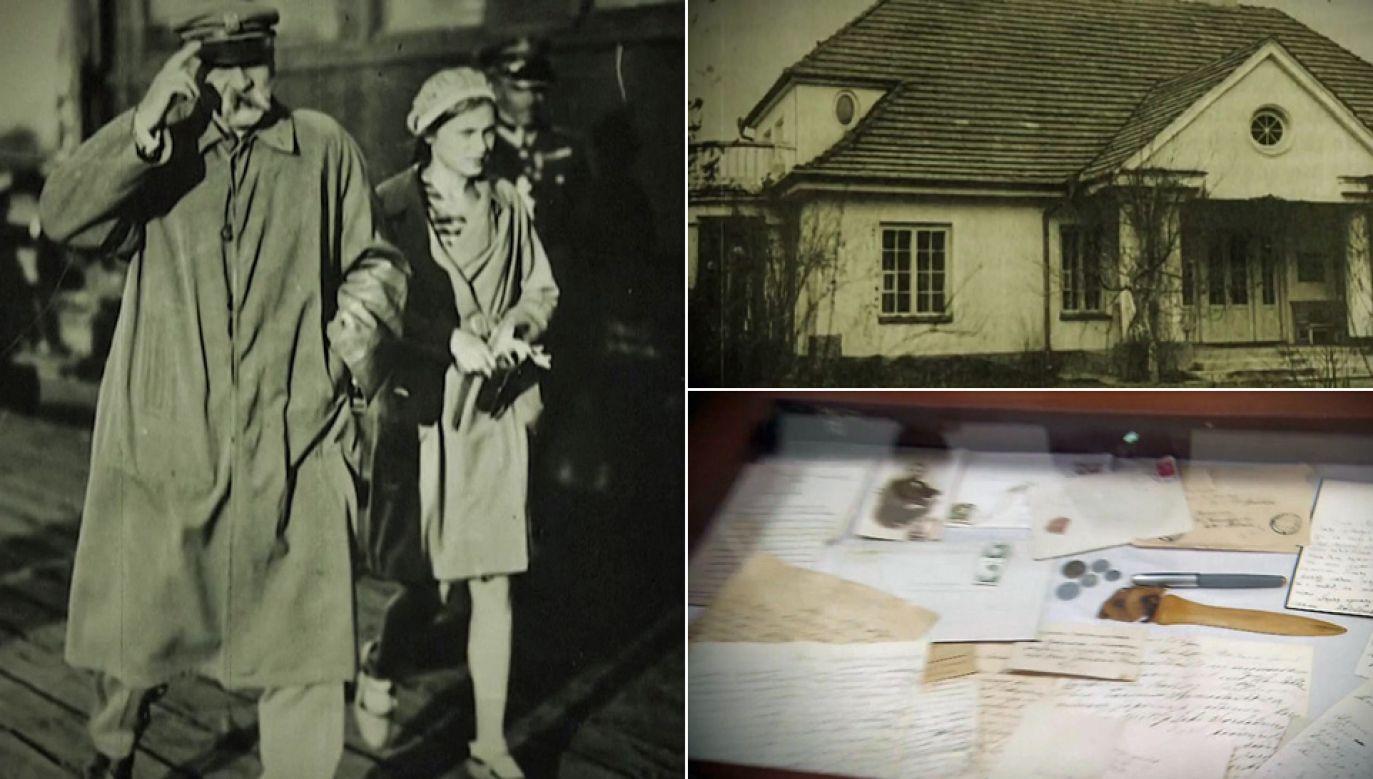 Marszałek Józef Piłsudski mieszkał w dworku Milusin w Sulejówku (fot. TVP1)