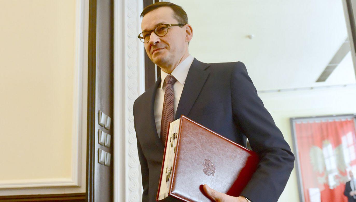 Premier udzielił wywiadu izraelskiemu dziennikowi  (fot. PAP/Jakub Kamiński)