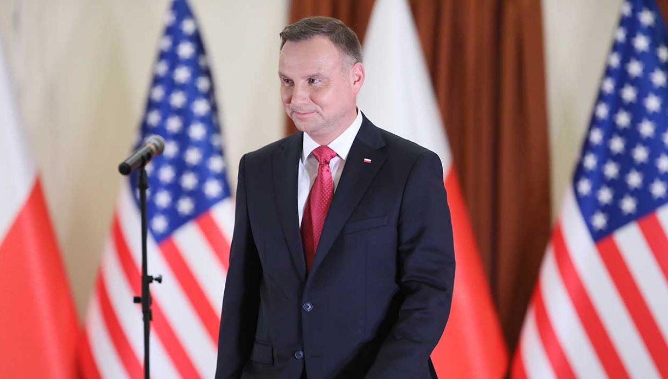 Prezydent odwiedził Houston w Teksasie (fot. PAP/Leszek Szymański)