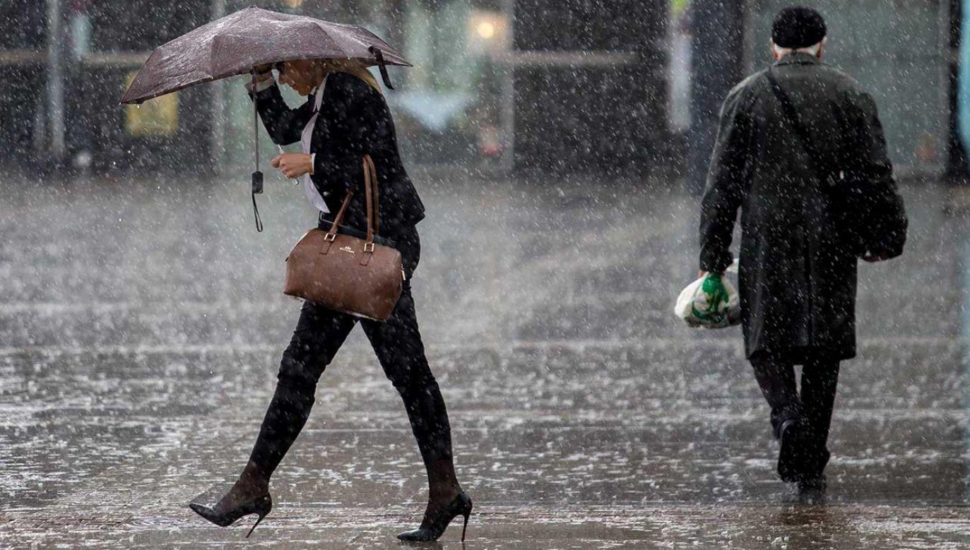 Poczatek tygodnia mokry, ale z dnia na dzień będzie cieplej (fot. arch. PAP/Andrzej Grygiel)