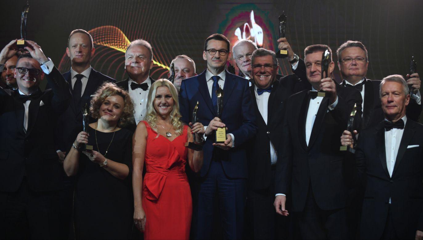 Gala wręczenia statuetek Wektorów z udziałem premiera Mateusza Morawieckiego (fot. PAP/Bartłomiej Zborowski)