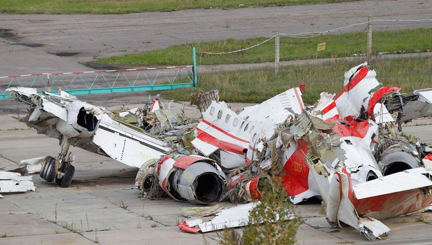 Wrak Tu-154M (fot. arch. PAP/EPA/YURI KOCHETKOV)
