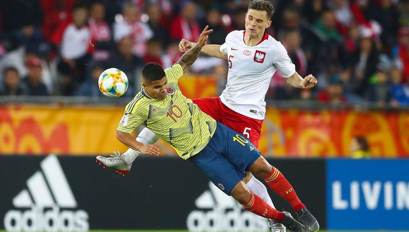 Mecz Polska –  Kolumbia: Juan Hernandez i Serafin Szota (fot. Getty Images)
