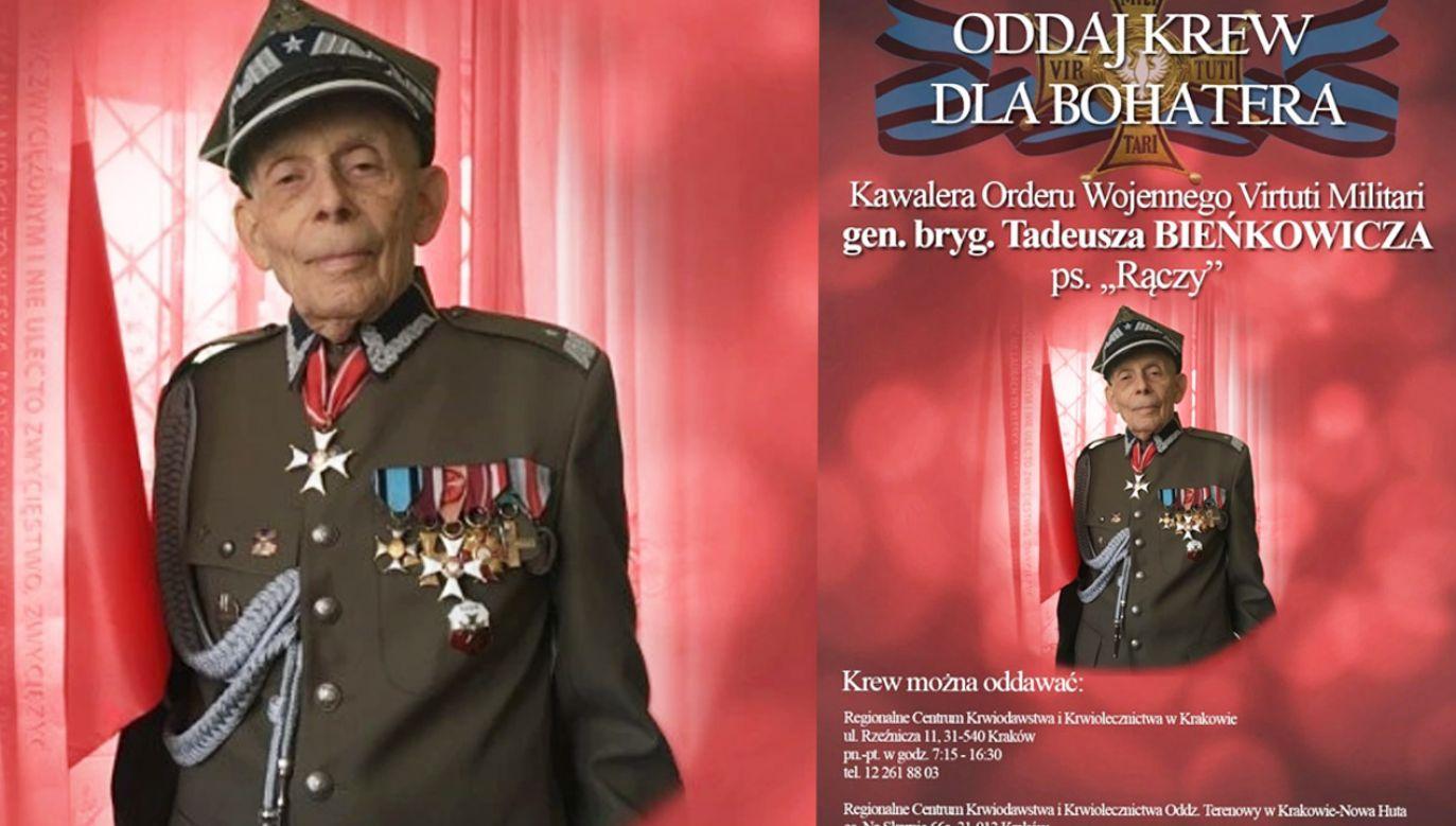 Gen. Tadeusz Bieńkowicz potrzebuje pomocy (fot. Materiały prasowe)