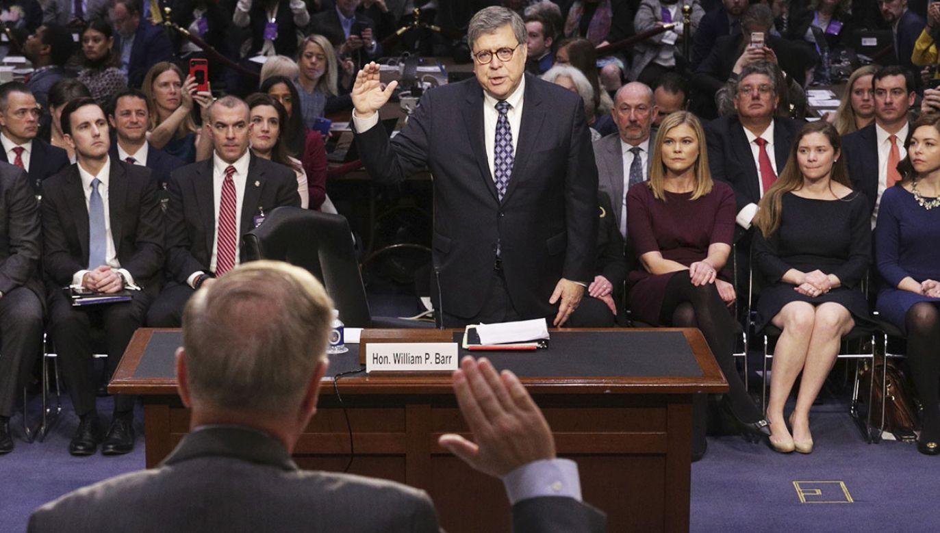 Przesłuchania Williama Barra potrwają dwa dni (fot. PAP/EPA/ALEX WONG / POOL)