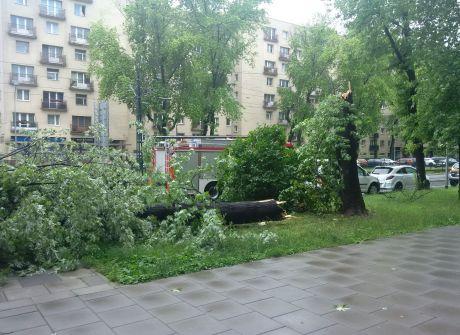 Oberwanie chmury w Krakowie