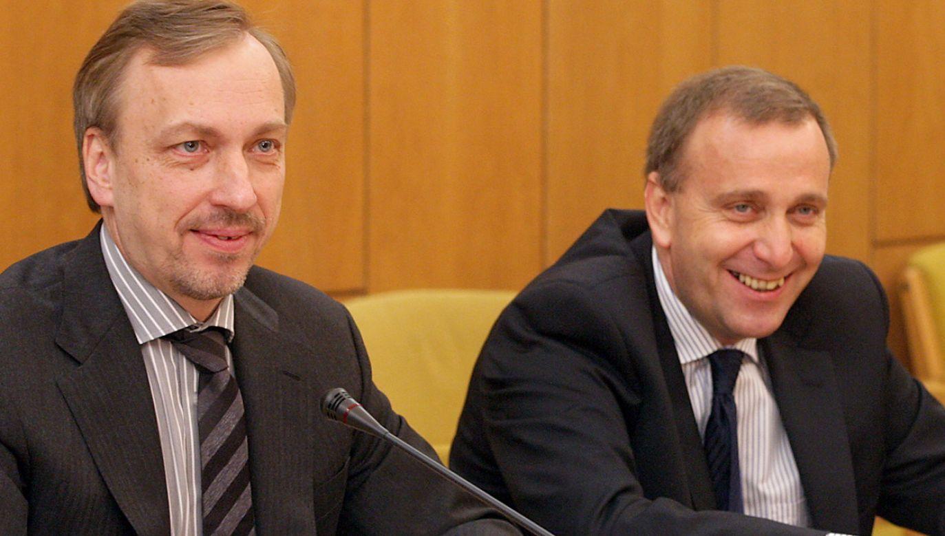Bogdan Zdrojewski i Grzegorz Schetyna (fot. arch.PAP/Paweł Kula)