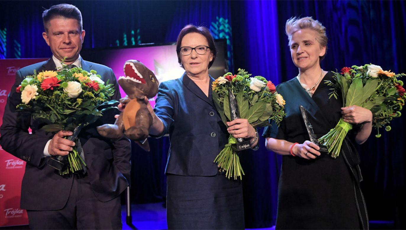 Ryszard Petru, Ewa Kopacz i Joanna Scheuring-Wielgus (fot. PAP/Marcin Obara)