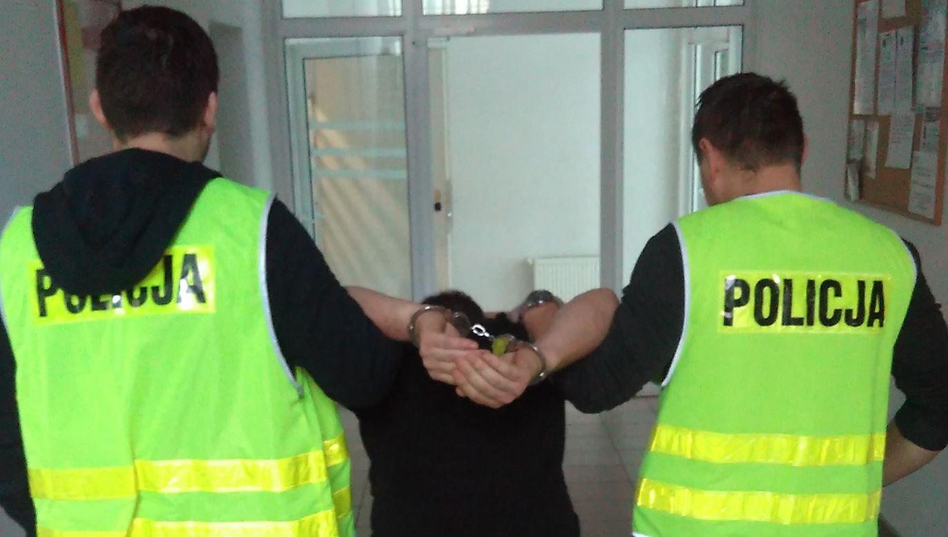 Zatrzymanie jednego z napastników (fot. TVP)