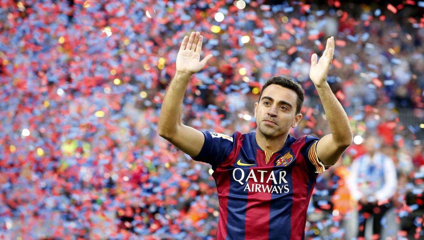 Xavi zakończył swoją przygodę z FC Barceloną w 2015 roku (fot. REUTERS/Gustau Nacarino)