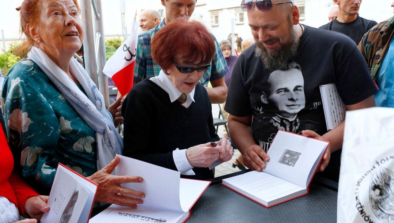 Córka Witolda Pileckiego, Zofia Pilecka-Optułowicz podczas obchodów 70. rocznicy śmierci rotmistrza Witolda Pileckiego (fot.   PAP/Adam Guz)