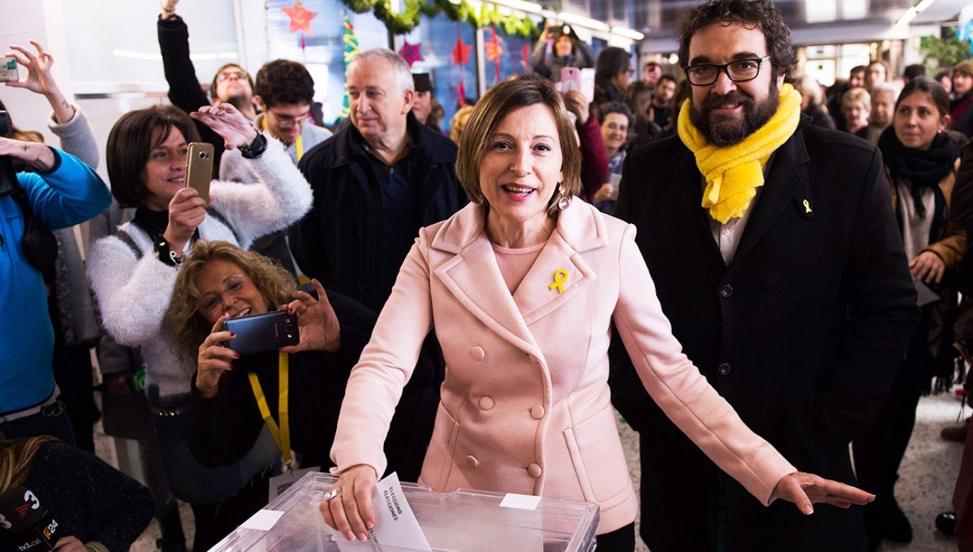 Carme Forcadell jest jednym z dziewięciu polityków osadzonych w związku z zarzutem rebelii (fot.  Alex Caparros/Getty Images)