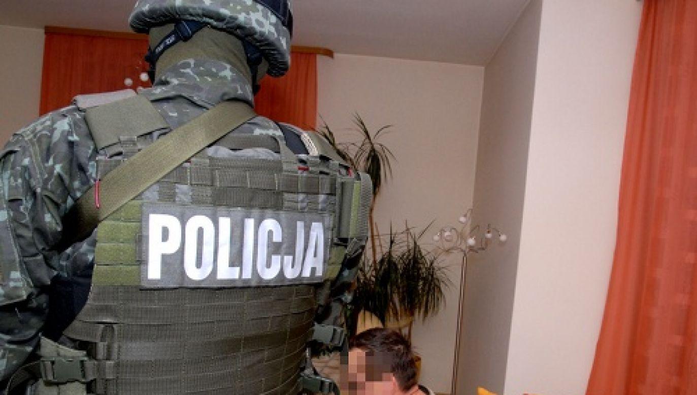 Zatrzymanie jednego z warszawskich gangsterów (fot.policja)