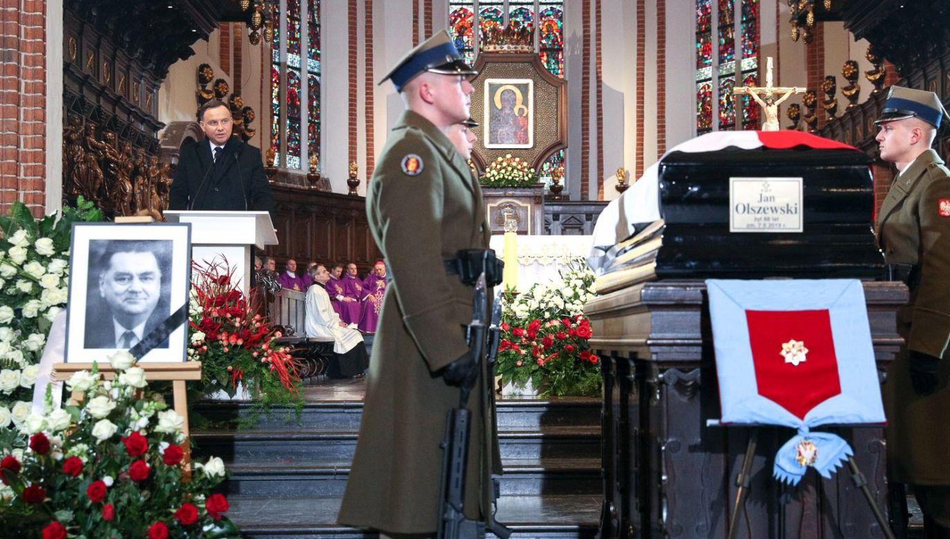 Jan Olszewski zmarł 7 lutego w wieku 88 lat (fot. twitter/KPRP/Igor Smirnow)