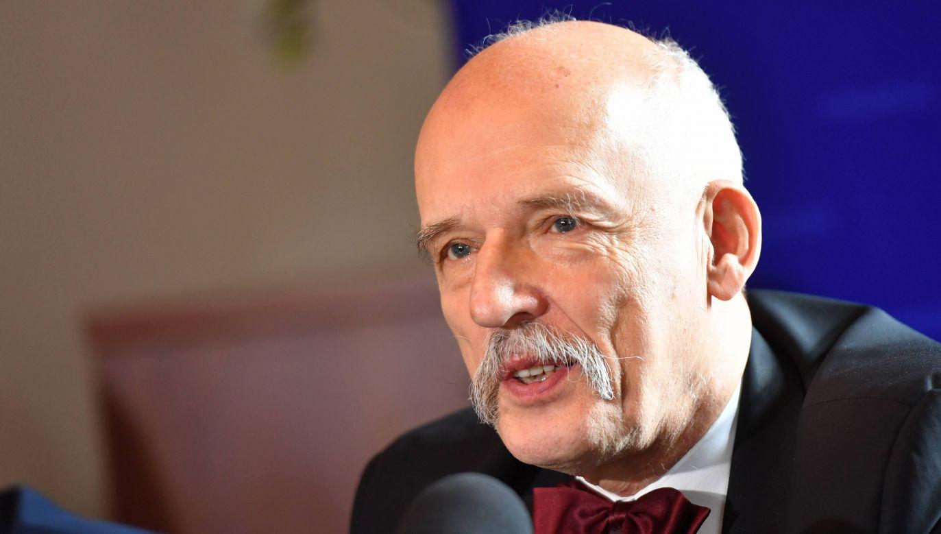 Former MEP and Freedom Party leader Janusz Korwin-Mikke. Photo: PAP/Marcin Bielecki