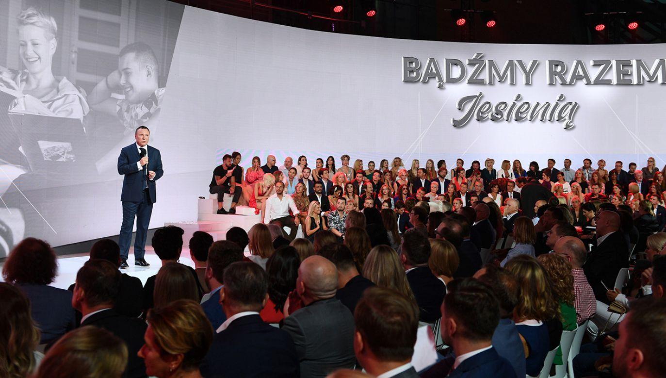 Prezes TVP szczególny nacisk położył na produkcje historyczne (fot. PAP/Marcin Kmieciński)