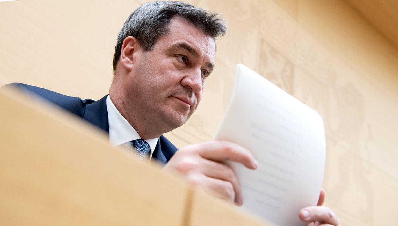 Premier Bawarii Markus Söder (fot. arch.PAP/DPA)