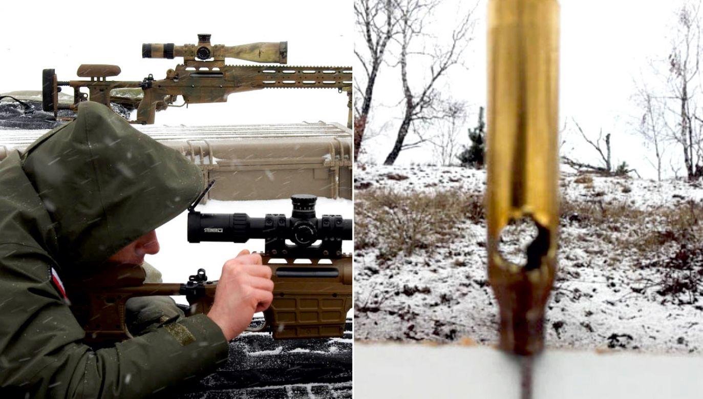 Strzelcy musieli trafić z 300 metrów w łuskę, co było wymagane do pozytywnego zakończenia szkolenia (fot. SOP)