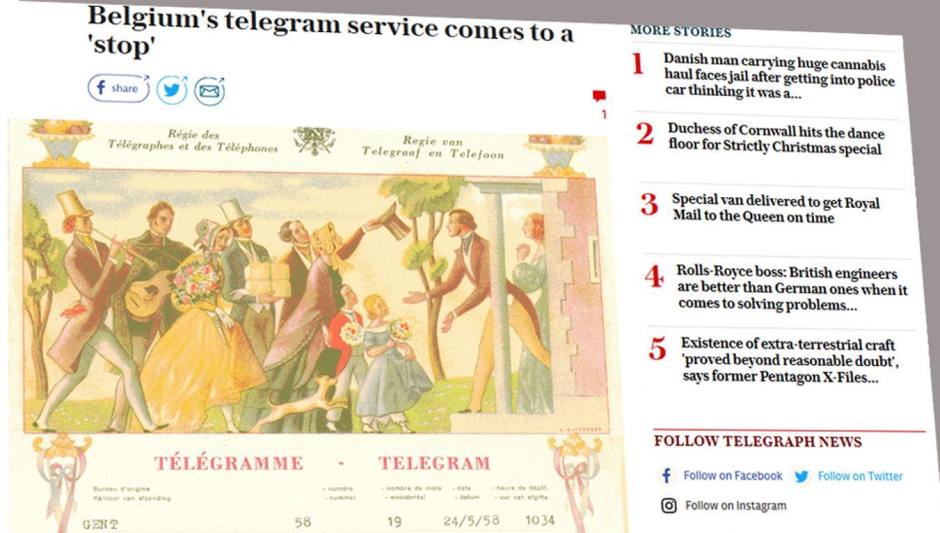 Po ponad 170 latach w piątek w Belgii zniknęła usługa wysyłania telegramów
