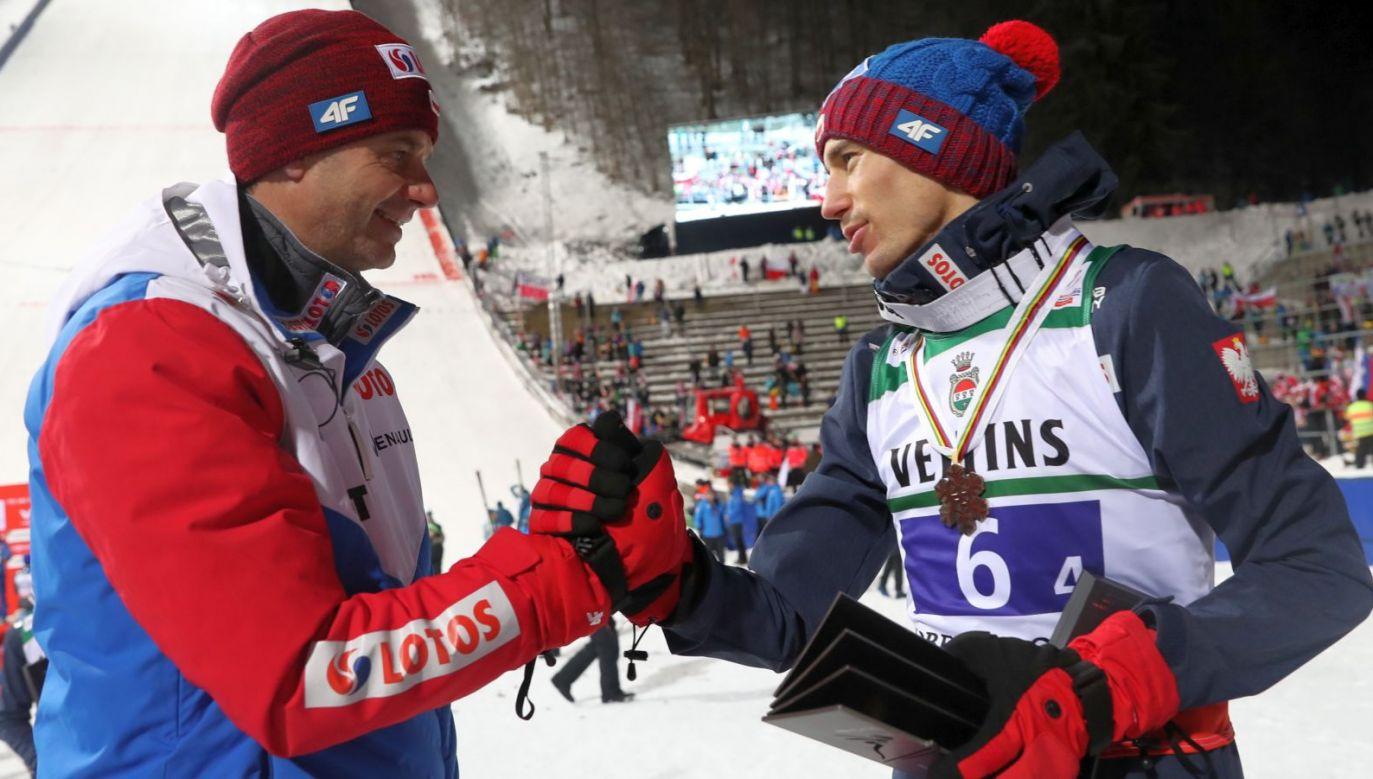 Stefan Horngacher i Kamil Stoch (fot. PAP/Grzegorz Momot)