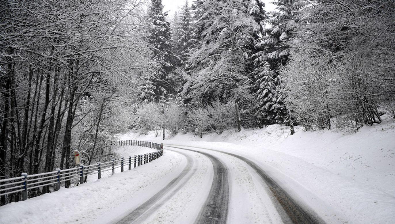 Zimowa aura w ostatnią niedzielę 2018 roku w Bieszczadach  (fot. PAP/Darek Delmanowicz)