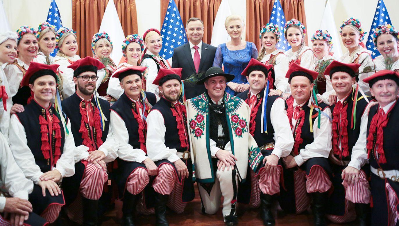 Prezydent Andrzej Duda wraz z małżonką przebywa z oficjalna wizytą w USA (fot. PAP/Leszek Szymański)