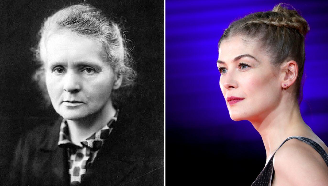 Maria Skłodowska-Curie, Rosamund Pike (fot. pl.wikipedia.org/Vittorio Zunino Celotto/Getty Images)