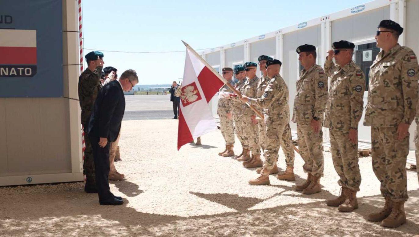 Wizyta szefa BBN w polskim kontyngencie wojskowym na Sycylii, gdzie obecnie w bazie NATO Sigonella służy około 70 żołnierzy (fot. TT/BBN)