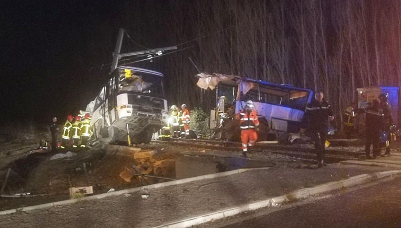 Do wypadku doszło w czwartek na południu Francji (fot. PAP/EPA/Mathieu Ferri / France Bleu Roussillon)
