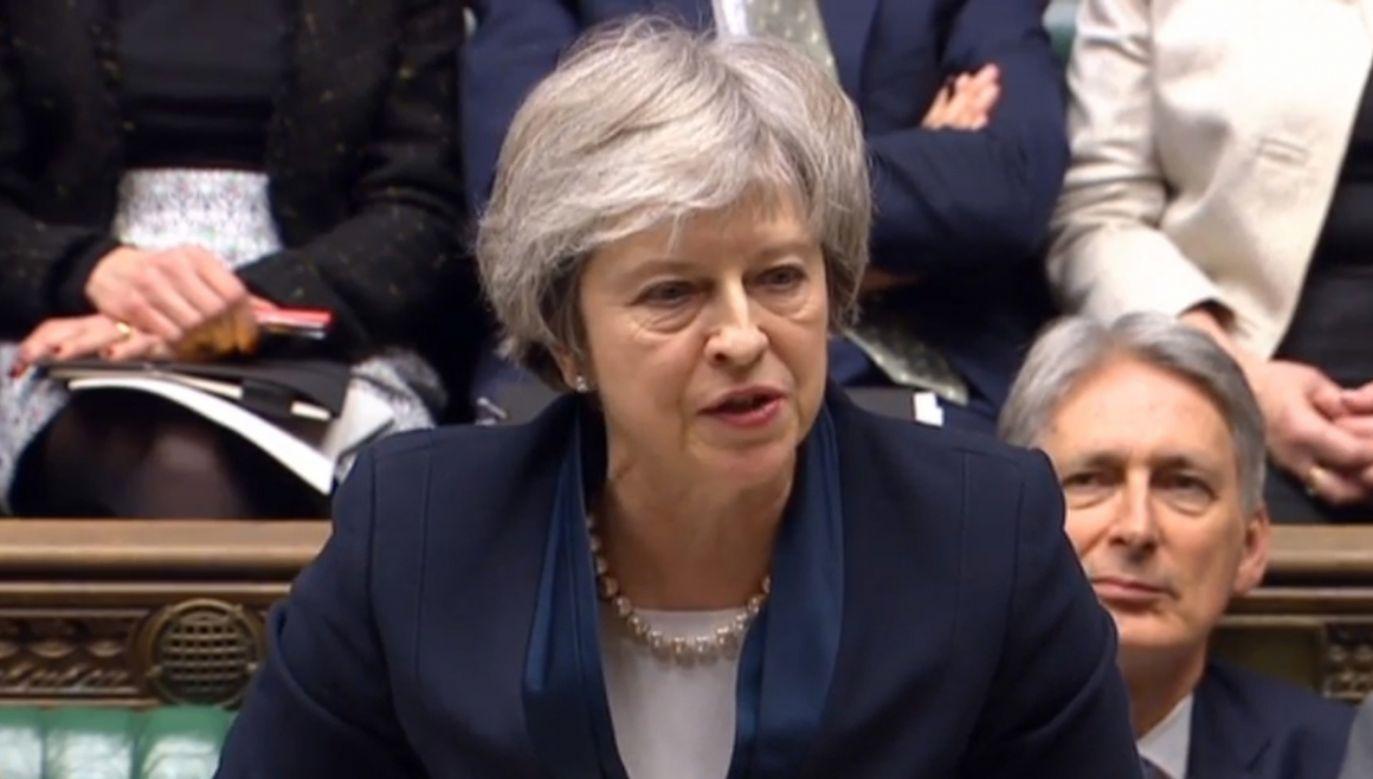 To najwyższa porażka urzędującego premiera w historii brytyjskiego parlamentaryzmu (fot. PAP/EPA/PARLIAMENTARY RECORDING UNIT HANDOUT)